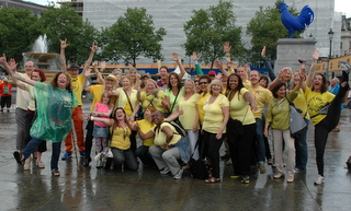London Laughter Flashmob July 2014