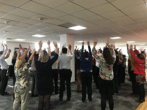 Santander Laughter Yoga workshop